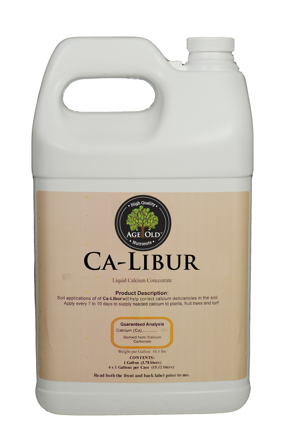 A High Concentrate Of Suspended Liquid Ca Libur 1 Gal Front