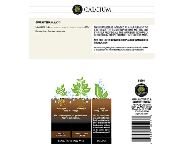 Calcium chart/diagram