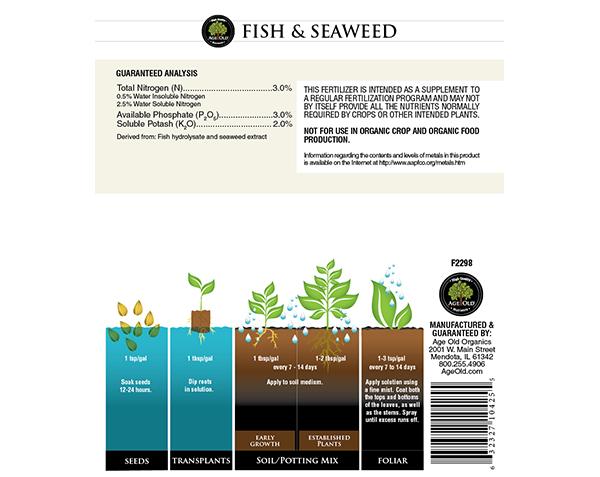 fish and seaweed chart