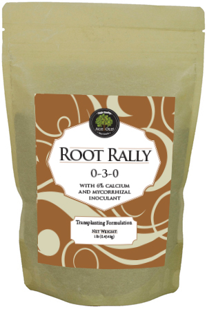 root rally 0-3-0 for transplanting