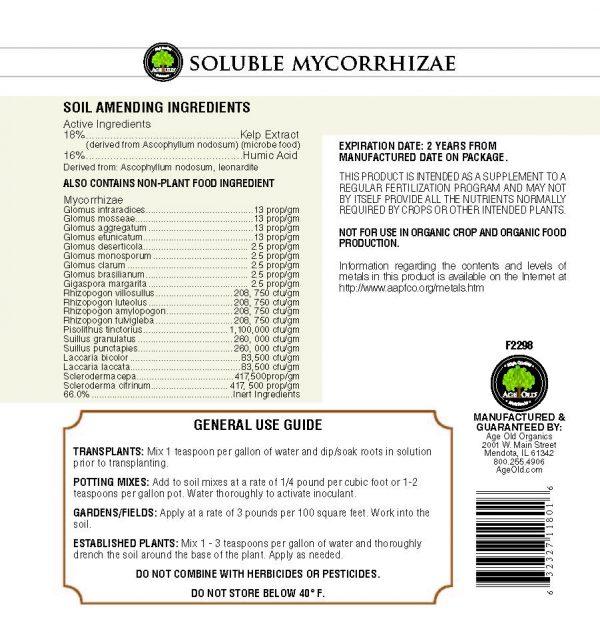 soluble mycorrhizae chart