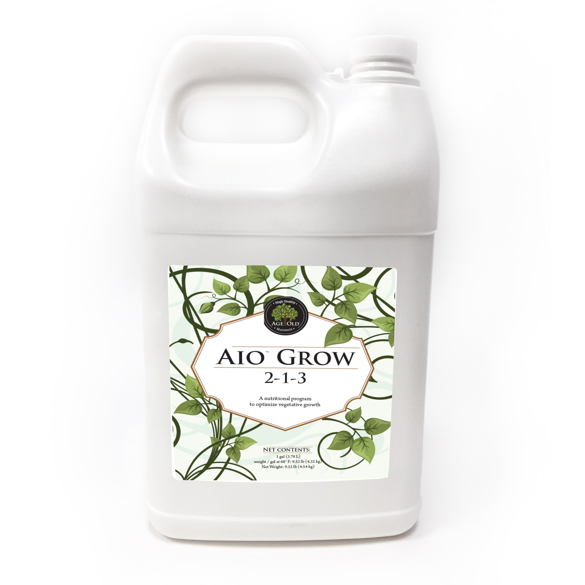 gallon of aio grow 2-1-3 by age old nutrients