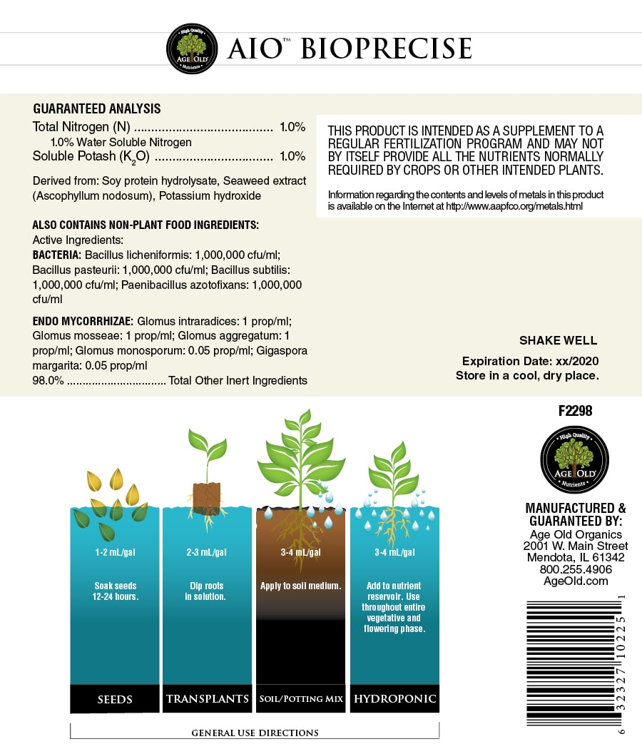 age old nutrients aio bioprecise label